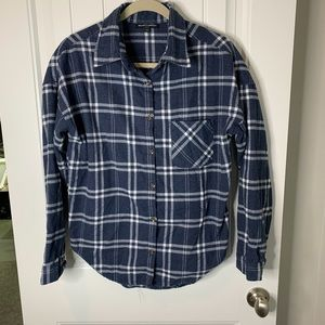 Brandy Melville flannel plaid button up one size